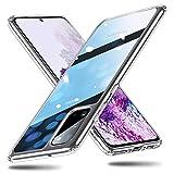 ESR Cover per Samsung S20, Custodia Protettiva in Vetro Temperato 9H [Asseconda Il Vetro Retrostante][AntiGraffio] + Cornice Paraurti in Silicone Morbido [Antiurti] per Galaxy S20 (Trasparente)