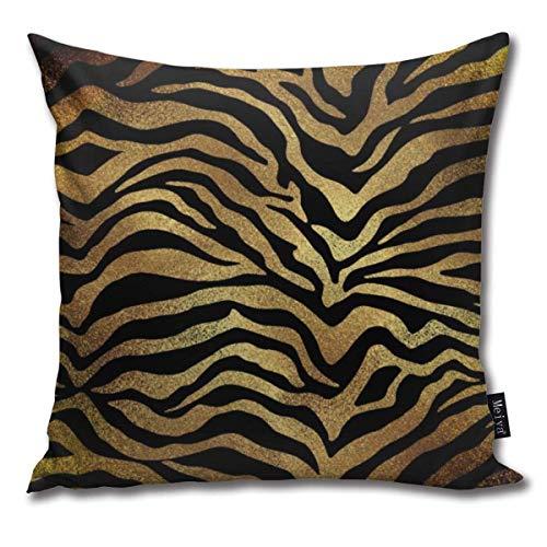 Safari Afrikanische Gold Glam Zebra Tierhaut Schwarz Kissenbezüge Home Dekorative Überwurf Kissenbezüge für...