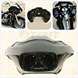 TCMT Vivid Black Injection ABS Inner & Outer Fairing Fit For Harley Davidson FLTR Road Glide 1998-2013
