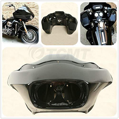 TCMT Vivid Black Injection ABS Inner & Outer Fairing Fit For Harley Davidson FLTR Road Glide 1998-2013