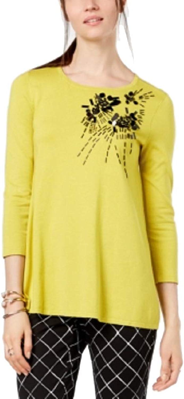 Alfani Embellished 3 4Sleeve Sweater
