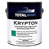 TotalBoat Krypton Copper Free Antifouling – Marine Ablative Boat Bottom Paint   for Fiberglass, Wood, Aluminum & Steel Boats   Ideal for Outdrives & Trim Tabs (Green, Gallon)