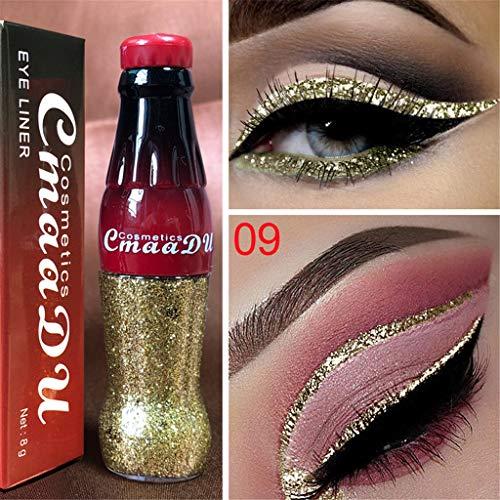 Eyeliner paillettes, Fulltime métallique coloré paillettes liquide imperméable à l'eau longue durée brillant Eye Liner (I)