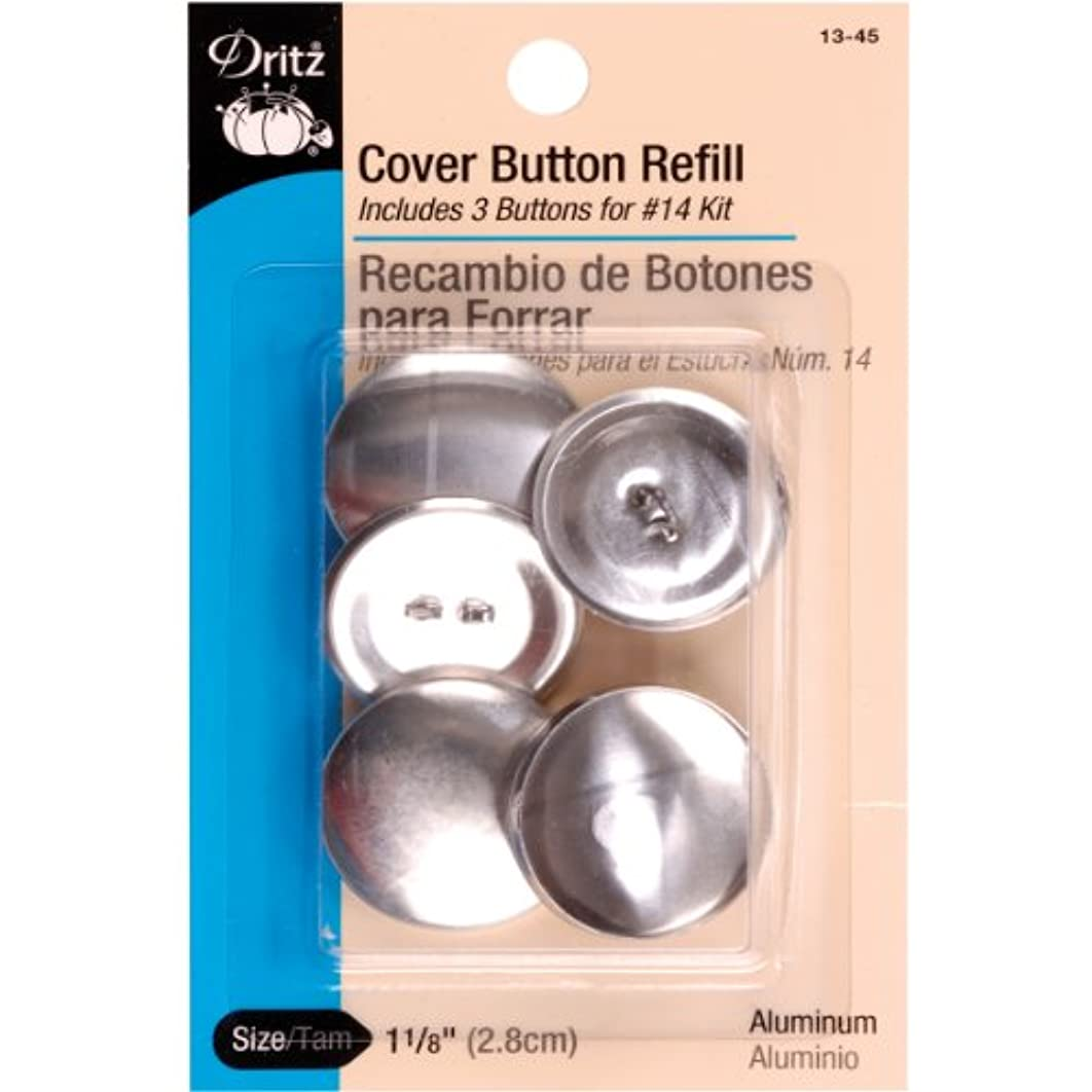 Dritz 13-45 Cover Button Refill for # 14 Kits, Size 45 - 1-1/8-Inch, 3-Sets