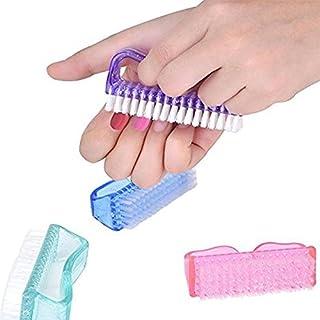 New8Beauty Cepillo de las uñas (4-Pack) - Nail mano Escobilla de limpieza - Uñas y la herramienta de Toe Nail Care - uso con antifúngica jabón para lavar uña hongo, pie de atleta, tiña