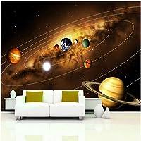 Lcymt 壁紙3D宇宙惑星壁画子供の寝室リビングルームの背景壁の装飾-150X120Cm
