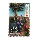 3D-Garten-Thermometer-Stil, Griechenland-Kühlschrankmagnet, Souvenir, Geschenk,...