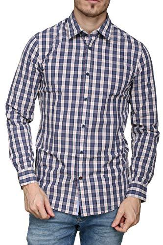 Pepe Jeans Kolton Camisa, Azul (Blue 551), Small para Hombre