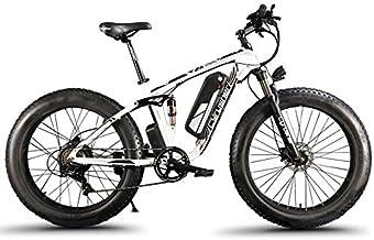 Bicicleta eléctrica (26 cm) con marco de aleación de aluminio, suspensión completa, 7 velocidades, hasta 50 km/h. Aceite hidráulico, disco de freno, xf8001000W 48V 13Ah, de la marca Extrbici