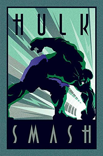 Marvel - Deco - Hulk - Comic Poster Plakat Druck - Größe 61x91,5 cm