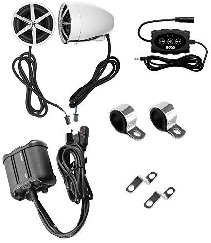 BOSS Audio Systems MCBK600B Speaker Amplifier Sound System, Bluetooth Remote Control, Weatherproof,...