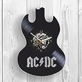 LBDK AC DC, ACDC Thunderstruck, Rückseite in Schwarz, Rock Musik, Band, Brian Johnson, Room Decor, Home Decor, einzigartiges Design, Vinyl Record, Fans, Musiker, Pop, Modern Art, Wall Art