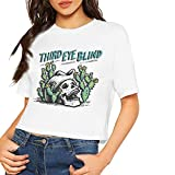 Third Eye Blind Short Sleeve T Shirt Woman's Crop Top Summer Dew Navel Shirts White