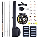Goture Fly Fishing Rod and Reel Combos Beginner Fly Fishing Starter kit for Bass Trout Travel Freshwater Saltwater 3/4/5/6/7/8 WT Light Adults Man Women