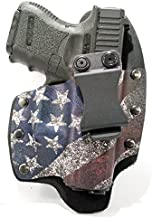 Infused Kydex USA Slanted Flag IWB Hybrid Concealed Carry Holster (Right-Hand, Glock 17,19,22,23,25,26,27,28,31,32,34,35,41)