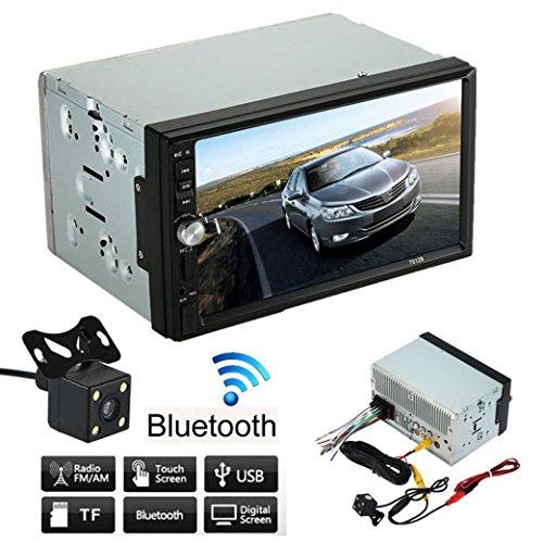 IKS UK-Lettore audio, 2 Lacaca doppio Din auto lettore Bluetooth MP5 Radio Stereo AUX USB per parcheggio