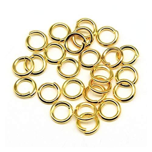 ENDFF 400 anillos de salto de un solo bucle, para hacer joyas, para manualidades y manicura (color: oro, tamaño: 1 x 9 mm)
