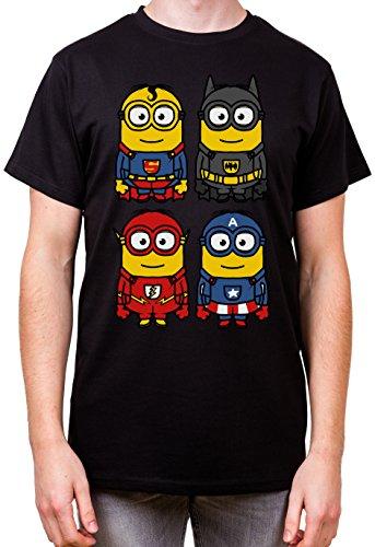 adrotes® 4 Great Heros – Parody T-Shirt - Gr.S-5XL