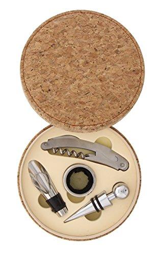 Pradel Excellence RT803 Coffret Sommelier avec 4 Accessoires, Liège, 15,2 x 15,2 x 4,2 cm