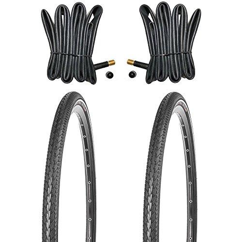 Kujo 2X 28 Zoll Fahrradreifen Set 700x40c Resul Pannenschutz und Reflexstreifen inkl. Schlauch AV