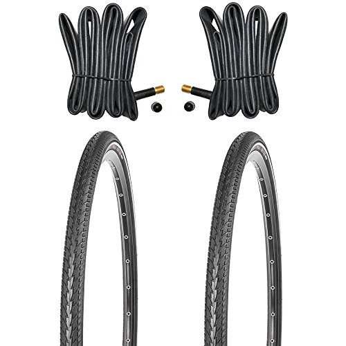 Kujo 2X 28 Zoll Fahrradreifen Set 700x38c Pannenschutz und Reflexstreifen inkl. Schlauch AV
