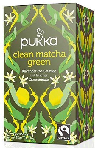 Clean Matcha Green PUKKA Bio 4er Pkg. à 20 Teebeutel