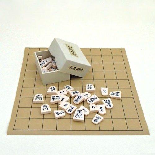 囲碁ラボ『将棋セット セットでお得 塩ビ将棋盤とプラスチック製駒水無瀬書』