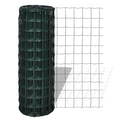 Festnight Clôture de Jardin Grillage galvanisé de Fil d'acier pour Plantes et Animaux Longeur: 10m Hauteur: 1,0 m