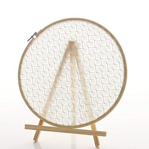L/S - Soporte para pendientes con forma de árbol y bordado de madera, para joyas, con bandeja para joyas
