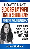 HOW TO MAKE $1,000 PER DAY PROFIT LEGALLY SELLING CARS AND BECOME A MILLIONAIRE QUICKLY USING A FEW SIMPLE STEPS WHEN YOU HAVE VERY LITTLE MONEY (Early Independent Wealth Book 1)