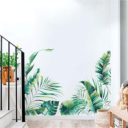 EMFGJ - Pegatinas de pared para plantas tropicales, papel pintado decorativo moderno de calcomanías de pared para pared o ventana, muebles, cocina, pasillo
