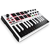 Akai Professional MPK Mini MKII | 25 Key USB MIDI Keyboard Controller With 8 Drum Pads and Pro Software Suite Included – Limited Edition White Finish