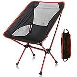 【アウトドアチェア】 Linkax 折りたたみ コンパクトチェア アルミ合金&軽量 【耐荷重150kg】 専用ケース付き (キャンプ椅子)