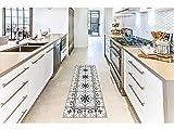Oedim Alfombra Mosaicos Color Gris/Azul para Habitaciones 2 PVC | 60 x 120 cm | Moqueta PVC | Suelo vinílico | Decoración del Hogar | Suelo Sintasol | Suelo de Protección |
