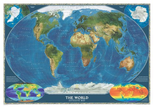 World Satellite Wall Maps World (Reference - World) by National Geographic Maps (2012-08-02)