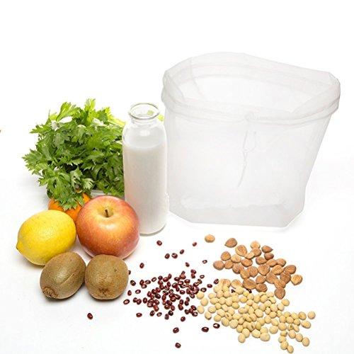 Bestomz - Colino in garza per latte di mandarla, succo, formaggio molle, yogurt greco, sacchetto durevole e riutilizzabile, nylon in maglia fine