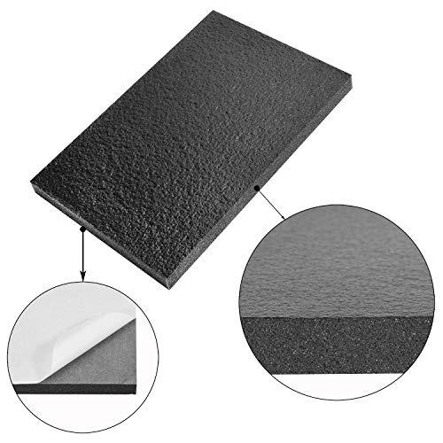 Zijmat 39.5'' x 79'' x 1'' Thick Self-Adhesive Fireproof Sound & Heat Insulation Foam | Engine Deadener