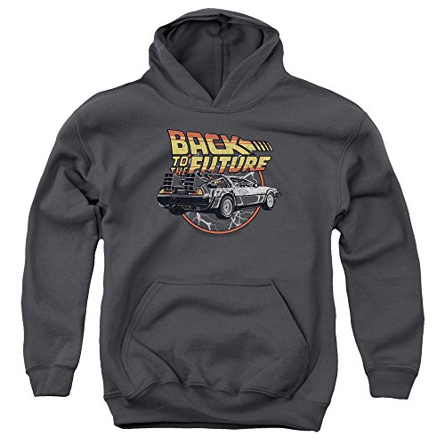 Kids Back to The Future Logo and DMC-12 Hoodie, Unisex, 4 Sizes