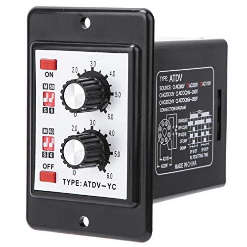 Interruptor de temporizador de encendido y apagado, apagado doble ATDV-YC, interruptor de tiempo de perilla de relé de encendido y apagado de 6S-60M para control remoto automático(AC(110/220v))