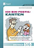 Ich-bin-fertig-Karten Deutsch Klassen 5/6: Schnelle Schüler*innen mit sinnvollen Aufgaben ohne großen Aufwand beschäftigen