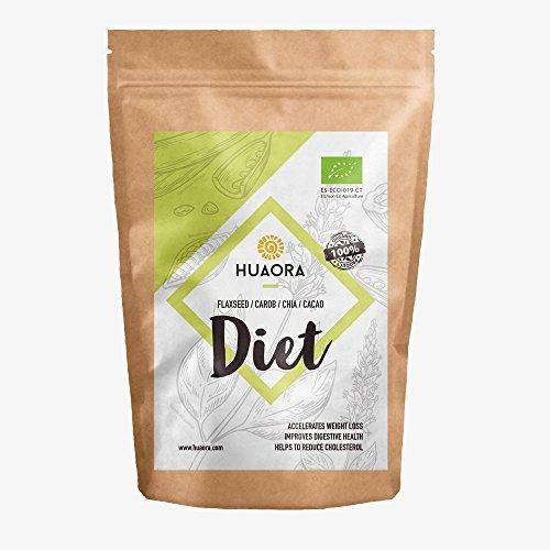 Huaora Diet – Lino, Carruba, Cacao, Chia, Zucchero Di Cocco – Perdere Peso, Migliorare La Digestione, Detox, Effetto Saziante E Eliminazione Dei Liquidi 250Gr