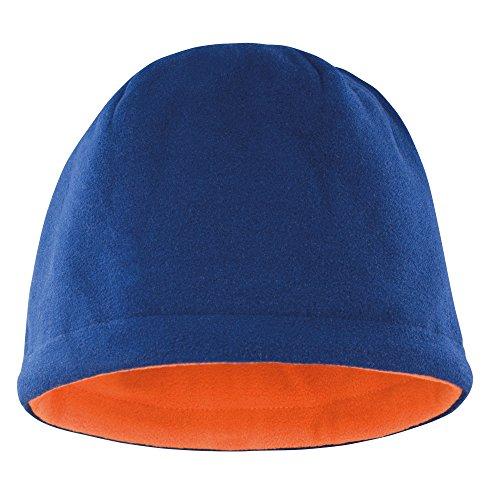 Result - Bonnet Polaire réversible - Adulte Unisexe (Taille Unique) (Bleu Marine/Orange)