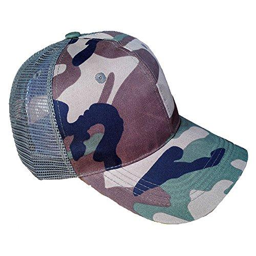 7X Accessoryo - Bonnet de Conception Camouflage Unisexe avec Maille texturée Noire