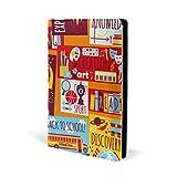 Fundas de libro coloridas para la vuelta al cole, de piel, para la escuela, oficina,...