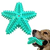 TCYYNEK Dog Toy Chewer Toothbrush,Pet Chew Toys Molar Squeaking Toy Starfish Shape Dog Squeaky Toys ,for Small Medium Large Puppy Tooth Brush Teeth Cleaning Toy(Blue)