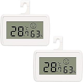Thlevel 2 st digital LCD hygrometer termometer mätare fuktighet temperaturmätare mini för växthus hemmakontor vit