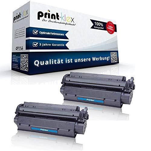 Print-Klex 2x Kompatible Tonerkartuschen für HP LaserJet 1000 LaserJet 1000 W LaserJet 1005 W LaserJet 1200 LaserJet 1200 N 15X C7115X HP15X HP 15X HP15 Black Schwarz - Office Pro Serie