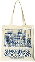 pinjewelry Shakespeare and Company Canvas Shoulder Bag Simple File Shopping Handbag