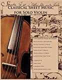 Classical Sheet Music for Solo Violin