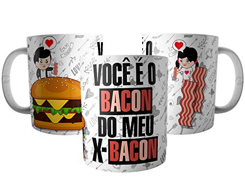 Caneca Casal de Namorados - Você é o Bacon do meu X-Bacon